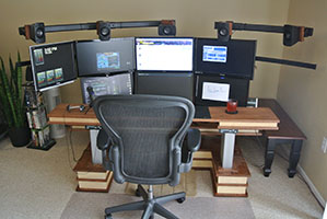 multi-monitor desk